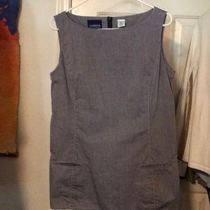 100% cotton slate blue grey cotton top