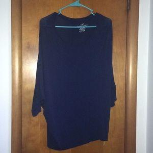 Dark Blue Dolman Sleeve Shirt