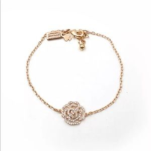 Kate Spade pave' gold rose bracelet