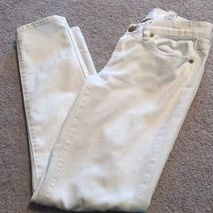 J.Crew toothpick white jeans 26 Ankle