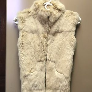 Rabbit fur vest by White House black market