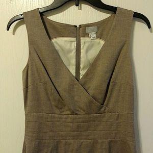 H&M Grey Structured Vest Dress