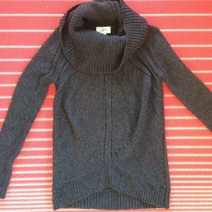 LOFT chunky knit cowl neck sweater