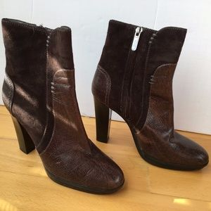 Tod's Brown Suede and Leather Boots Sz 37