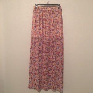 BCBG floral skirt