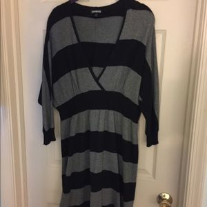 Black and grey  striped dress
