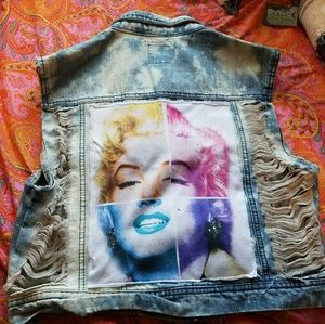 Handmade vintage denim vest