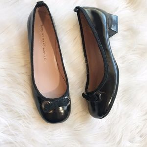 Marc by Marc Jacobs Black Low Block Round Heel