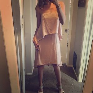 Light pink, tiered dress