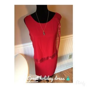 Dresses & Skirts - 🎄Red sequin dress size 12P