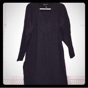 Plus size 26/28 Lane Bryant Black sweater dress