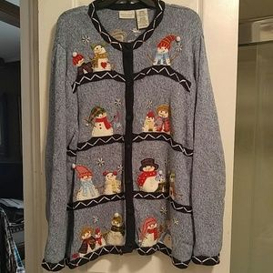 White Stag Christmas Sweater