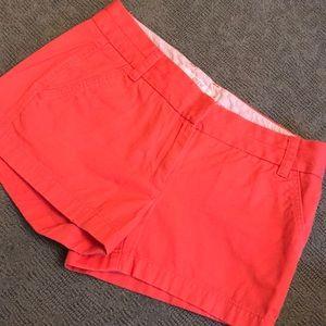 J.Crew Coral Chino Shorts