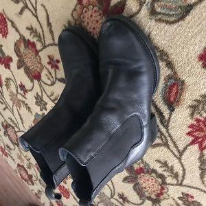 Zara leather heeled boots