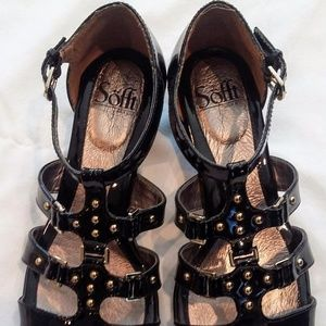 Women's Sofft Black Patent Leather Sandal