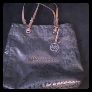 Michael Kors Silver leather tote