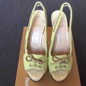 Authentic Christian Louboutin Jefferson Slingbacka