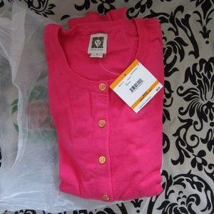 Anne Klein fashion sweater cardigan pink