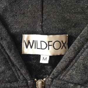 Wild fox zip up sweatshirt hoodie