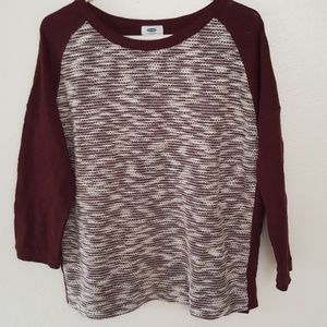 Old navy long sleeve knit sweater size M