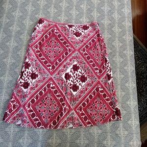 Loft bandana skirt