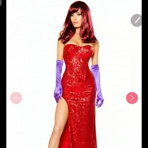 Jessica rabbit cosplay costume