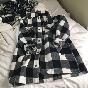 Plaid forever 21 coat!!