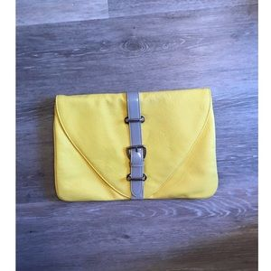 ASOS yellow clutch