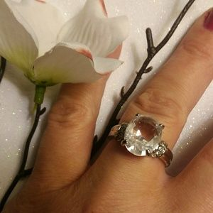 🎁Vintage Topaz 18 kt White Gold Ring