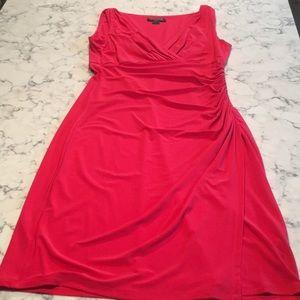 Bright pink/dark coral dress
