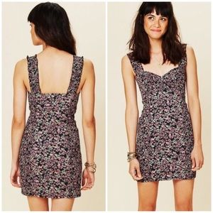 Free People smocked floral bodycon dress
