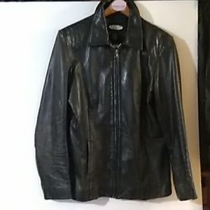 Vintage Old Navy Clothing Co. Leather Jacket