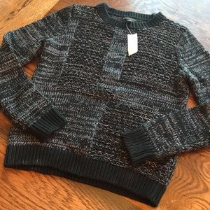 Banana Republic Black Cable Knit Sweater