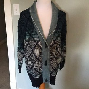 Forever 21 Blue Sweater Cardigan