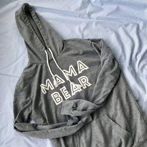 Tops - Grey Mama Bear hoodie 🐻