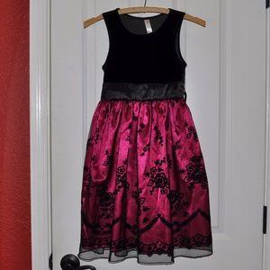 Cherokee Girl's Velvet Flocked Party Dress