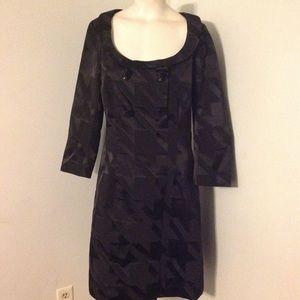 Vintage Black Jacquard Dress 10