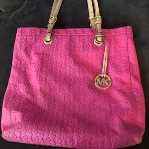 Michael Kors Pink leather tote