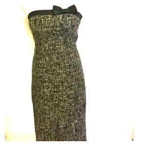 Tweed Strapless Dress for the Holidays