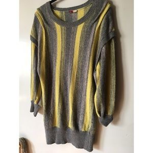 H&M GREY & YELLOW SWEATER DRESS