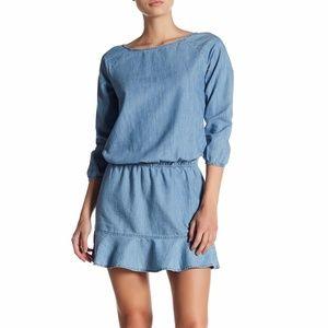 Soft Joie Arryn B Indigo Chambray Dress Sz S