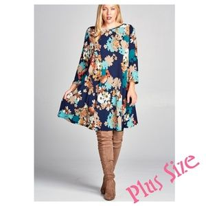 Dresses & Skirts - 💕JUST IN: Floral Print Swing Tunic Dress