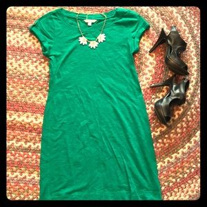 Perfect Kelly Green Banana Republic Shift Dress S