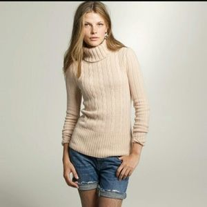 J. Crew Wool Cashmere Turtleneck Sweater