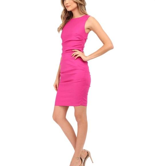 df2da6faf8 Nicole Miller ARTELIER Lauren Stretch Linen Dress.  M 5a133db5620ff7478e0ed200