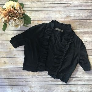 The Limited • Cropped ruffle shrug top