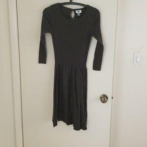 Old Navy Gray Knit Dress