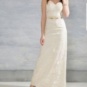 Chi Chi for Modcloth Ivory Gown SZ 2 NWT