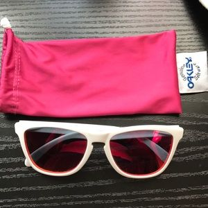 Oakley white and pink sunglasses