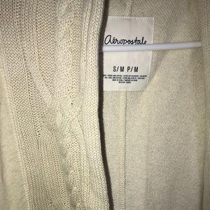 Oversized semi knit cardigan